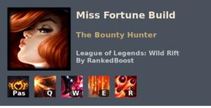 Miss Fortune Build League of Legends Wild Rift