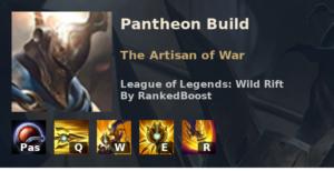 Pantheon Build League of Legends Wild Rift
