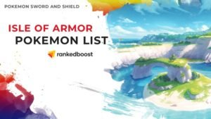 Pokemon Sw and Sh Isle of Armor Pokemon List