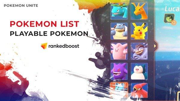 Pokemon-Unite-Pokemon-List