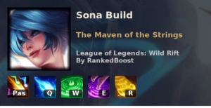 Sona Build League of Legends Wild Rift