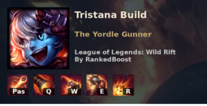 Tristana Build League of Legends Wild Rift