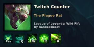 Twitch Counter League of Legends Wild Rift