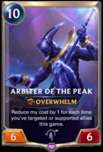 Arbiter of the Peak Legends of Runeterra