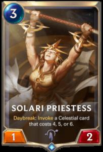 Solari Priestess Legends of Runeterra