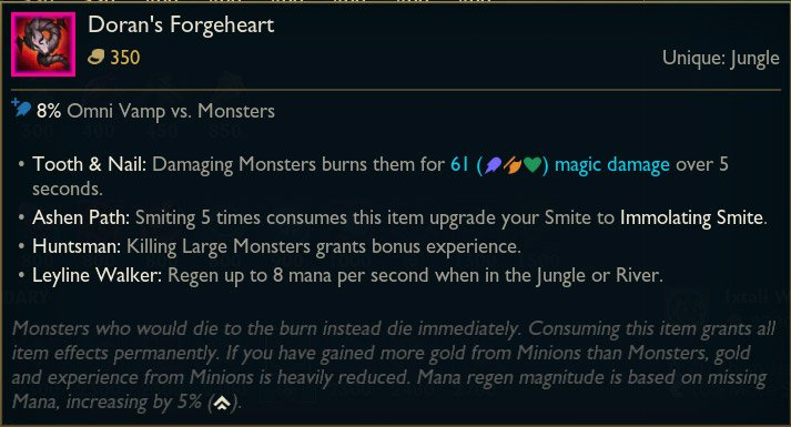 Jungle-Item-Daron's-Forgeheart-LoL