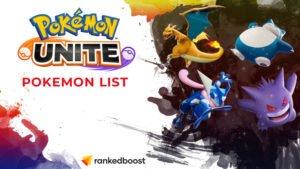 Pokemon Unite Pokemon List