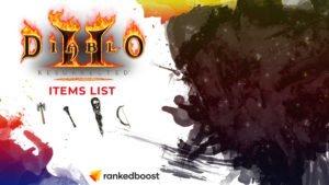 Diablo 2 Items List