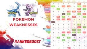 Pokemon Brilliant Diamond and Shining Pearl Pokemon Weakness Type Chart